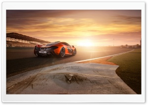 2013 Mclaren P1 Rear HD Wide Wallpaper for Widescreen