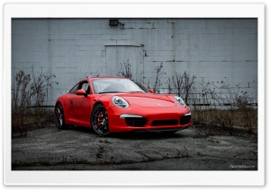 2013 Porsche 911 (991) with black wheels HD Wide Wallpaper for 4K UHD Widescreen desktop & smartphone