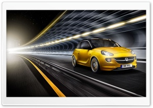 2013 Vauxhall Adam Yellow HD Wide Wallpaper for Widescreen