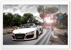 2014 Audi R8 V10 Spyder HD Wide Wallpaper for 4K UHD Widescreen desktop & smartphone