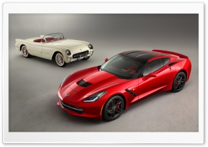2014 Chevrolet Corvette Stingray and Classic Chevy HD Wide Wallpaper for Widescreen