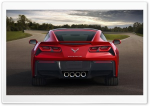 2014 Chevrolet Corvette Stingray Rear HD Wide Wallpaper for Widescreen