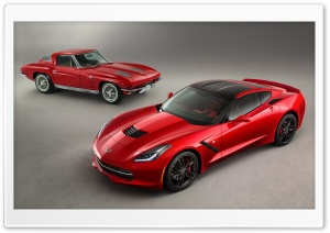 2014 Chevrolet Corvette Stingray Red HD Wide Wallpaper for Widescreen