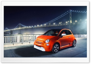 2014 Fiat 500E HD Wide Wallpaper for 4K UHD Widescreen desktop & smartphone