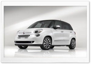 2014 Fiat 500L Lounge White HD Wide Wallpaper for Widescreen