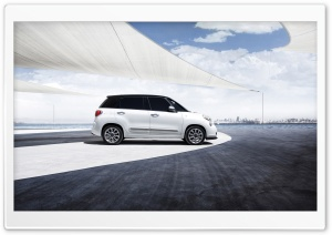 2014 Fiat 500L Side Vew HD Wide Wallpaper for 4K UHD Widescreen desktop & smartphone