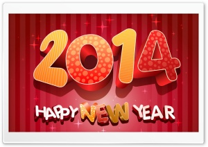 2014 Happy New Year HD Wide Wallpaper for Widescreen