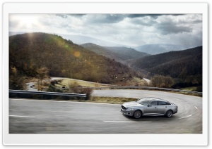 2014 Jaguar XJR Mountain Road HD Wide Wallpaper for Widescreen