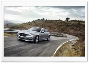 2014 Jaguar XJR Road HD Wide Wallpaper for Widescreen