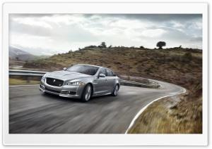 2014 Jaguar XJR Road HD Wide Wallpaper for Widescreen