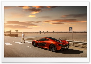 2014 McLaren P1 Orange HD Wide Wallpaper for Widescreen