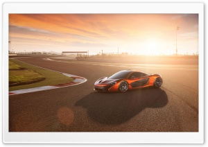 2014 McLaren P1 Race Track HD Wide Wallpaper for Widescreen