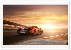 2014 McLaren P1 RaceTrack HD Wide Wallpaper for Widescreen