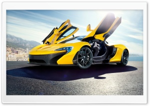 2014 McLaren P1 Yellow HD Wide Wallpaper for Widescreen