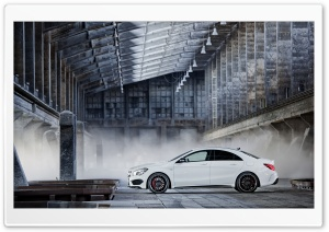 2014 Mercedes Benz CLA45 AMG White HD Wide Wallpaper for Widescreen