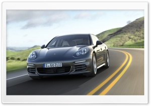 2014 Porsche Panamera Road HD Wide Wallpaper for Widescreen