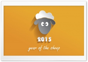 2015 Year of Sheep HD Wide Wallpaper for 4K UHD Widescreen desktop & smartphone