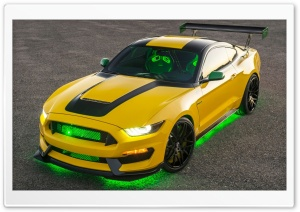 2016 Ford Ole Yeller Mustang Shelby GT350 HD Wide Wallpaper for Widescreen