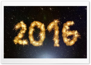 2016 Happy New Year HD Wide Wallpaper for Widescreen
