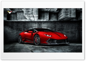 2016 Rosso Mars Novara Edizione Lamborghini Huracan HD Wide Wallpaper for Widescreen