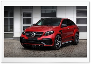 2016 TopCar Mercedes-Benz GLE Inferno Red HD Wide Wallpaper for 4K UHD Widescreen desktop & smartphone