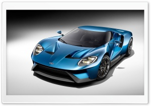 2017 Ford GT Blue Car HD Wide Wallpaper for Widescreen