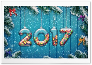 2017 Happy New Year Background HD Wide Wallpaper for Widescreen