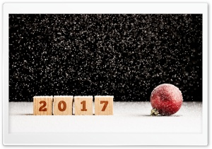 2017 Happy New Year, Snow Bokeh HD Wide Wallpaper for Widescreen