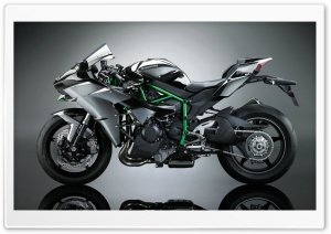2017 Kawasaki Ninja H2 Motorcycle HD Wide Wallpaper for Widescreen