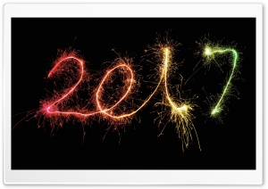 2017 New Year Midnight HD Wide Wallpaper for Widescreen