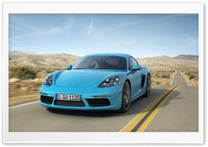 2017 Porsche 718 Cayman HD Wide Wallpaper for Widescreen