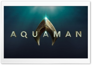 2018 Aquaman Movie Logo HD Wide Wallpaper for Widescreen