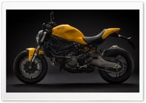 2018 Ducati Monster 821 Motorcycle HD Wide Wallpaper for 4K UHD Widescreen desktop & smartphone