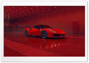 2018 Ferrari Red Car HD Wide Wallpaper for 4K UHD Widescreen desktop & smartphone