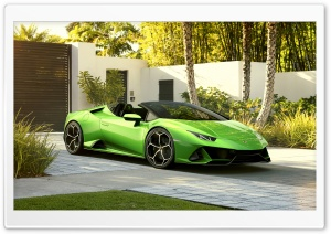2019 Green Lamborghini Huracan Evo Spyder Supercar Ultra HD Wallpaper for 4K UHD Widescreen desktop, tablet & smartphone