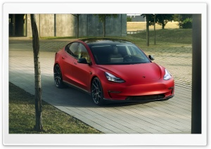 2019 Novitec Tesla Model 3 Electric Car Ultra HD Wallpaper for 4K UHD Widescreen desktop, tablet & smartphone