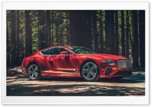 2020 Red Bentley Continental GT V8 Car Ultra HD Wallpaper for 4K UHD Widescreen desktop, tablet & smartphone