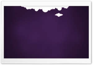 2 Clouds And Purple Background HD Wide Wallpaper for Widescreen