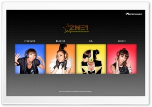 2NE1 - Minzy, Dara, CL, Bom HD Wide Wallpaper for Widescreen