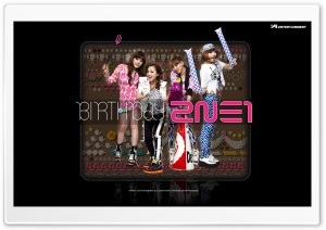 2NE1 Birthday HD Wide Wallpaper for Widescreen