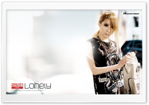 2NE1 Lonely HD Wide Wallpaper for Widescreen
