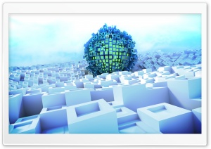 3D Abstract Ball HD Wide Wallpaper for Widescreen