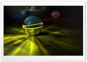 3D Abstract Balls HD Wide Wallpaper for Widescreen