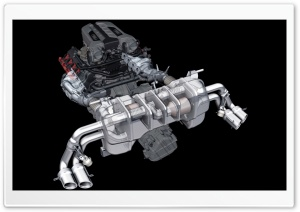 3D Audi Engine HD Wide Wallpaper for Widescreen