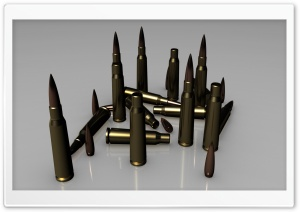 3D Bullets HD Wide Wallpaper for Widescreen