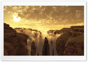 3D Canyon Landscape HD Wide Wallpaper for Widescreen
