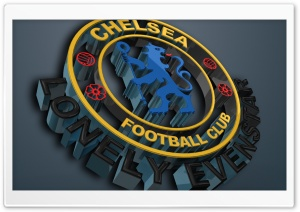 3D Chelsea Logo Ultra HD Wallpaper for 4K UHD Widescreen desktop, tablet & smartphone