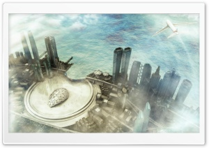 3D City HD Wide Wallpaper for Widescreen