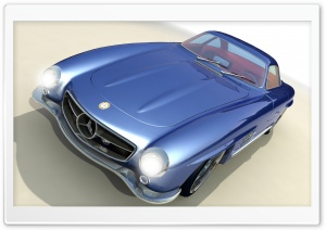 3D Classic Mercedes Benz Gullwing HD Wide Wallpaper for Widescreen