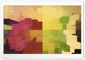 3D Colorful Cubes HD Wide Wallpaper for Widescreen